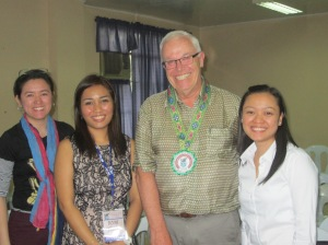 The MTB-MLE Researchers: Melissa Digo, Dr. romylyn Metila, Dr. Alan Williams, and Lea Angela Pradilla