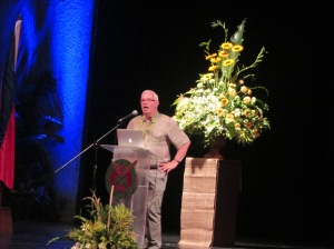 Dr. Alan Williams during his plenary address