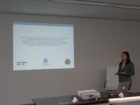 Lea Pradilla presenting at ACLL
