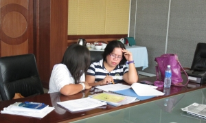 Photo of  harmonisers work on the Cebuano version of LearnARMM tools
