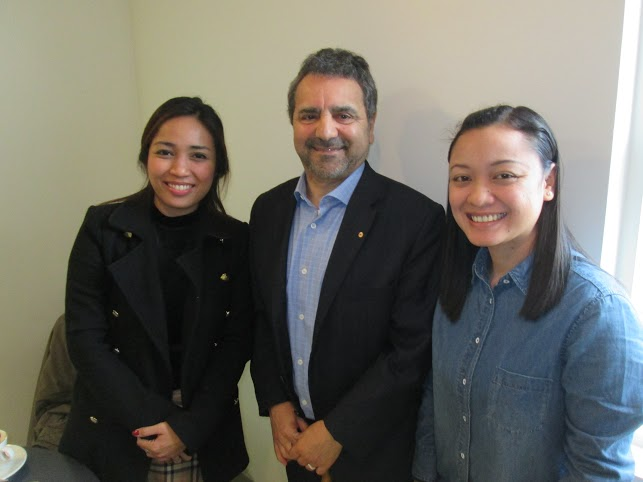 Photo of Dr Romylyn Metila, Prof Joe Lo Bianco and Lea Pradilla