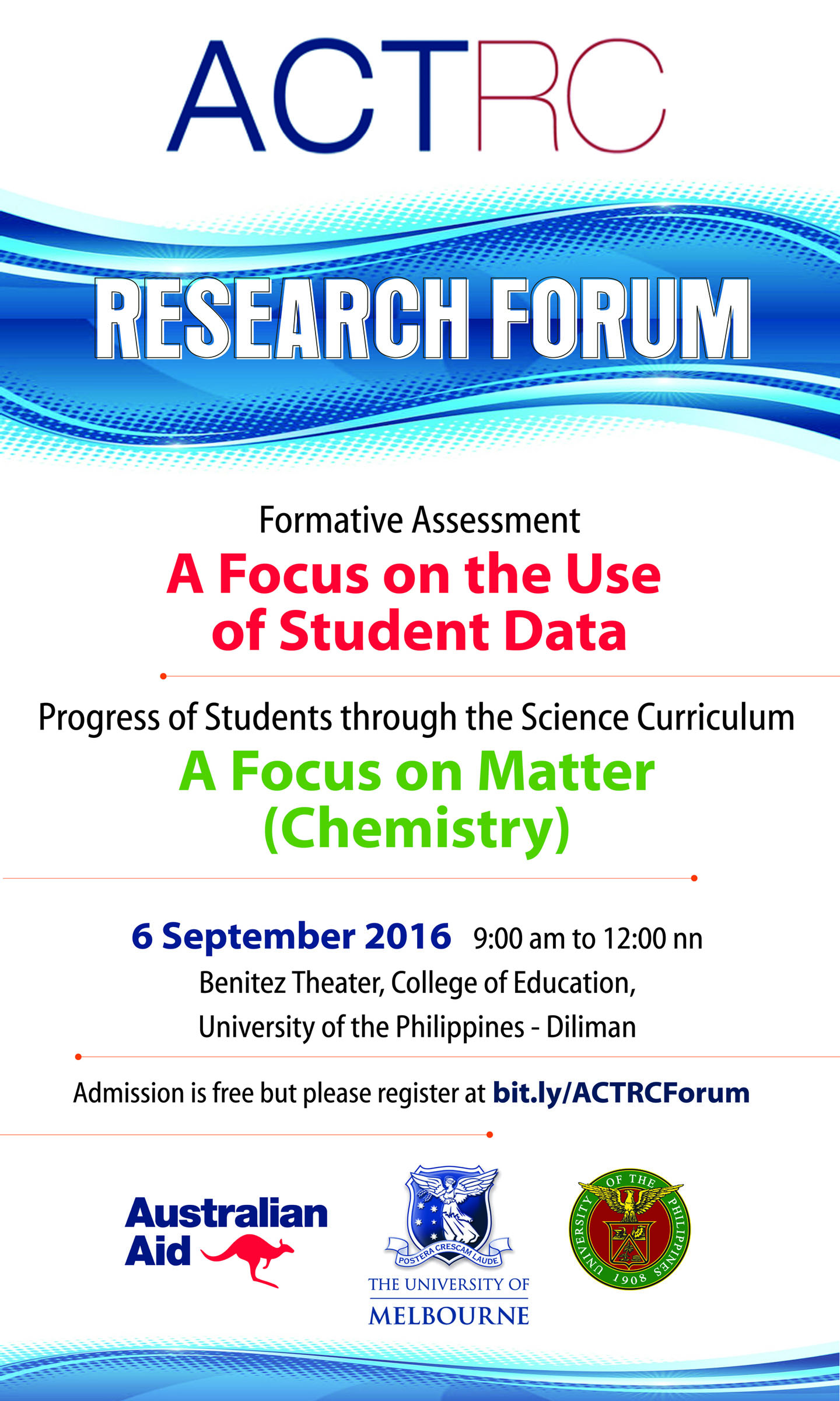 Register for the ACTRC Research Forum | Assessment, Curriculum and Technology Research Centre