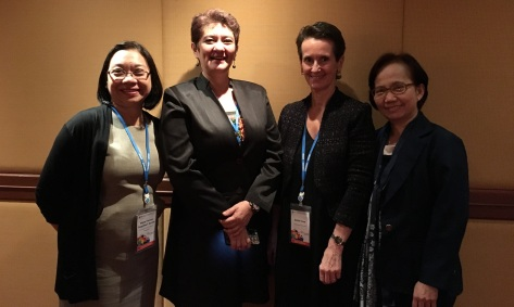From L to R: Therese Bustos, Dina Ocampo, Esther Care & Marlene Ferido