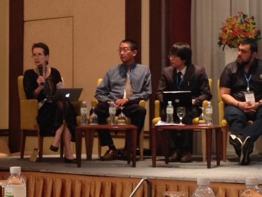 Esther Care and panel members for plenary session, Innovations for Increasing the Quality of Education