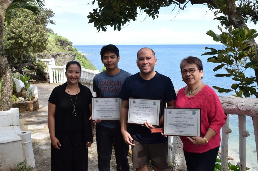 Photo of Maybel Madamba, Joesal Marabe, Louie Cagasan and Minerva Villaflor at Ilocos Norte